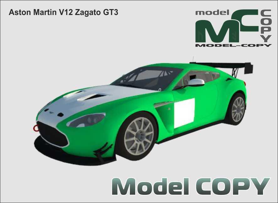 Aston Martin V12 Zagato GT3 - 3D Model