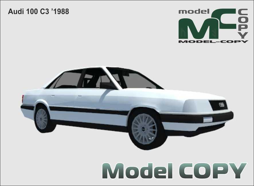 Audi 100 C3 '1988 - 3D Model