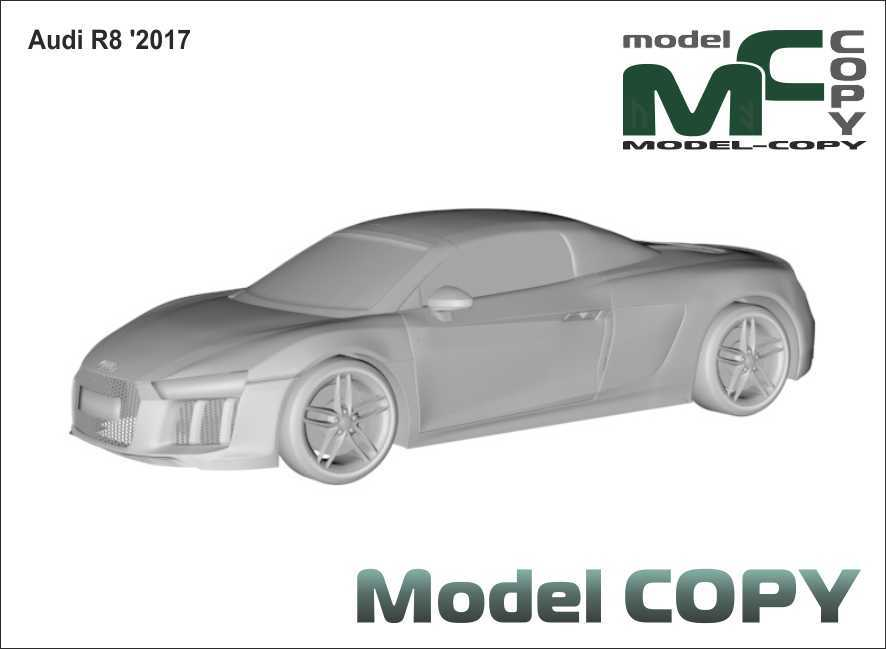 Audi R8 '2017 - 3D Model