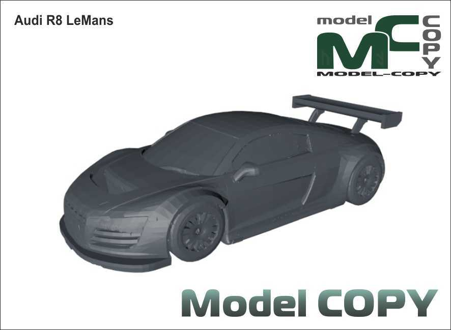 Audi R8 LeMans - 3D Model