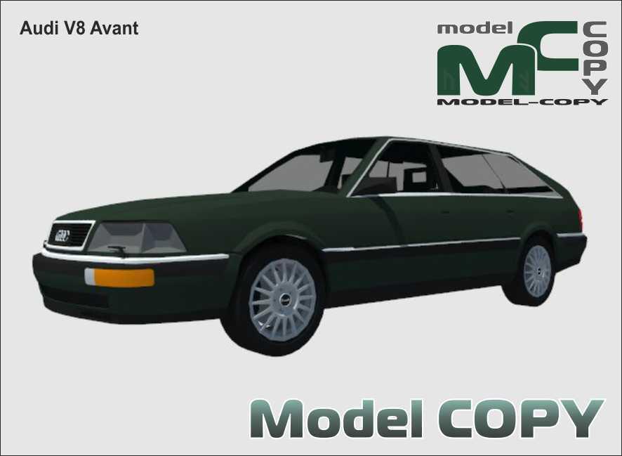 Audi V8 Avant - 3D Model