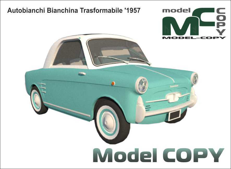 Autobianchi Bianchina Trasformabile '1957 - 3D Model