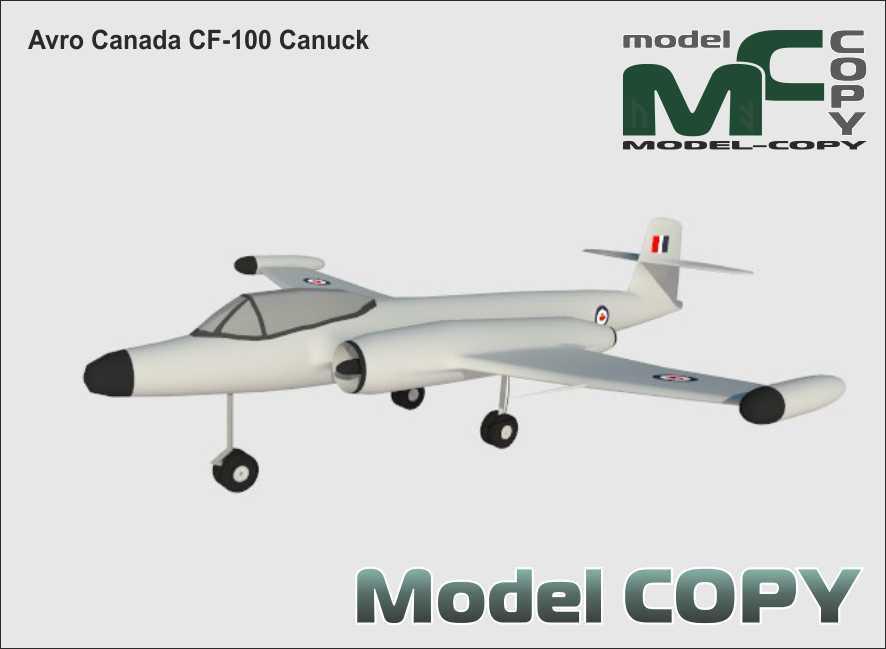 Avro Canada CF-100 Canuck - 3D Model