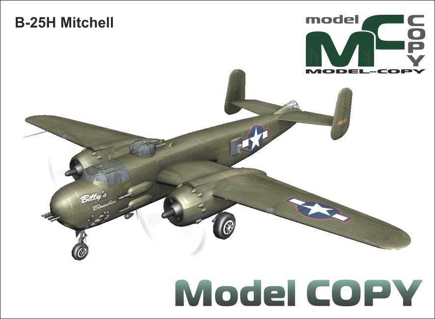 B-25H Mitchell - 3D Model