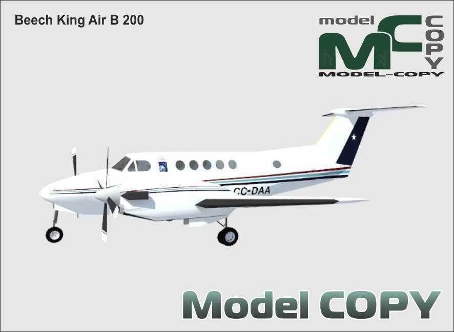 Beech King Air B 200 - 3D Model