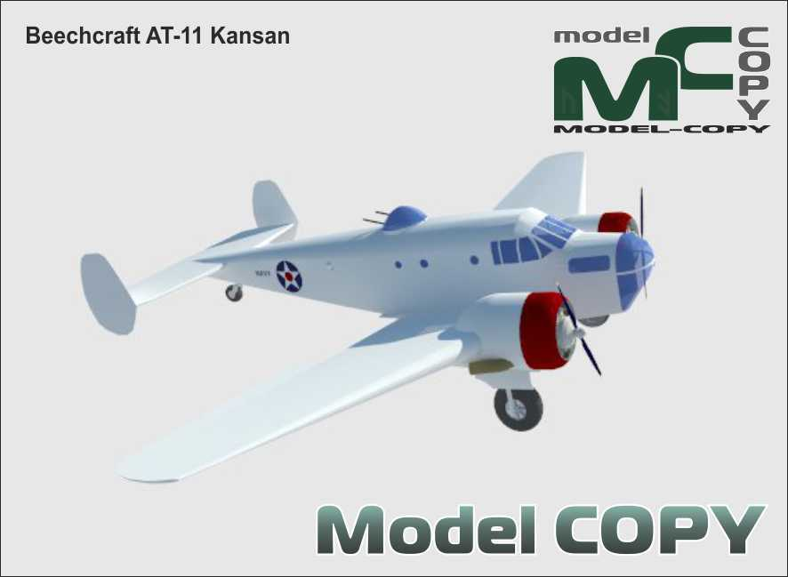 Beechcraft   AT-11 Kansan - 3D Model