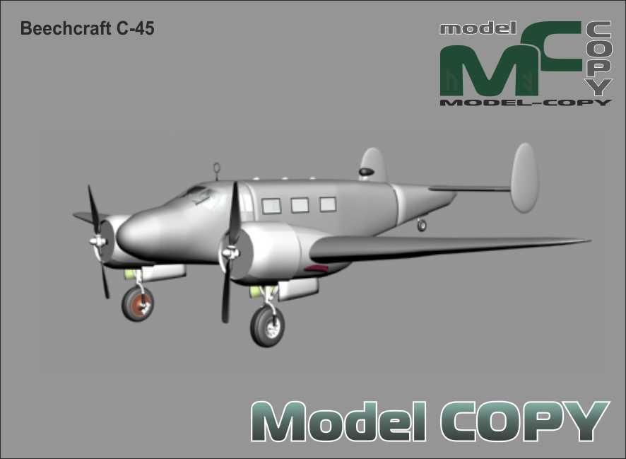 Beechcraft C-45 - 3D Model