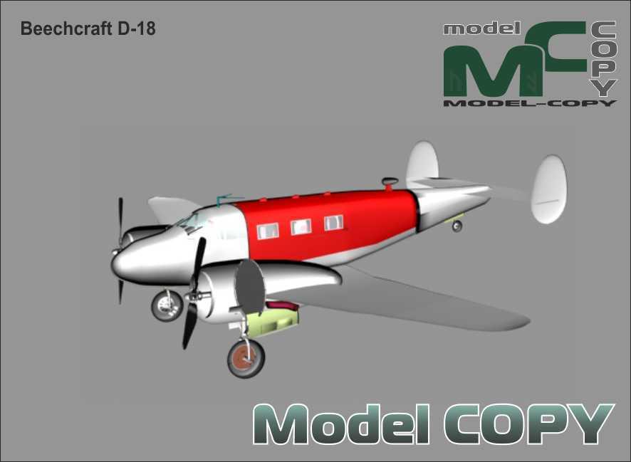 Beechcraft D-18 - 3D Model