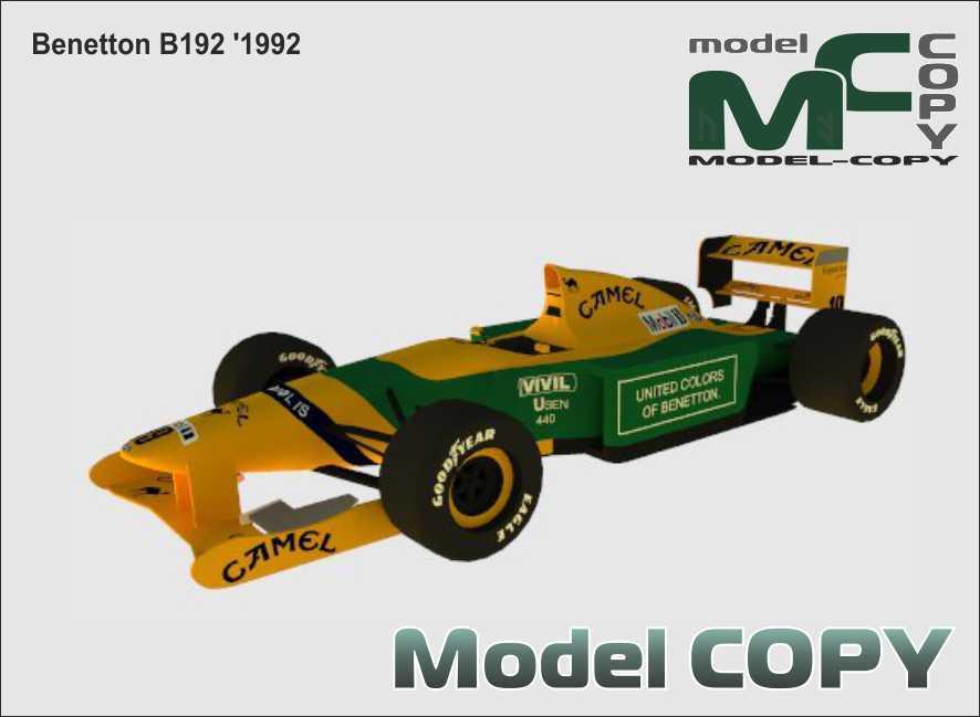 Benetton B192 '1992 - 3D Model