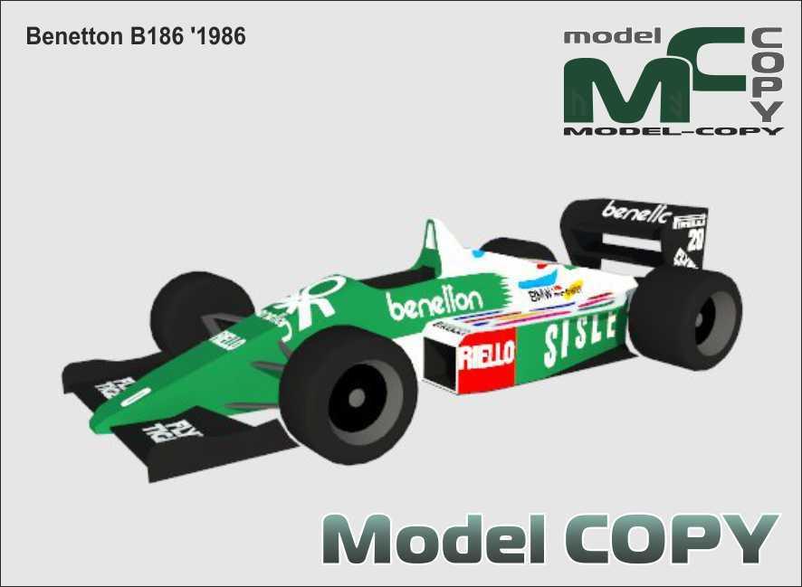 Benetton B186 '1986 - 3D-модел