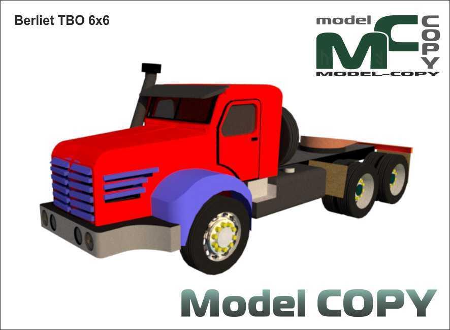 Berliet TBO 6x6 - 3D Model