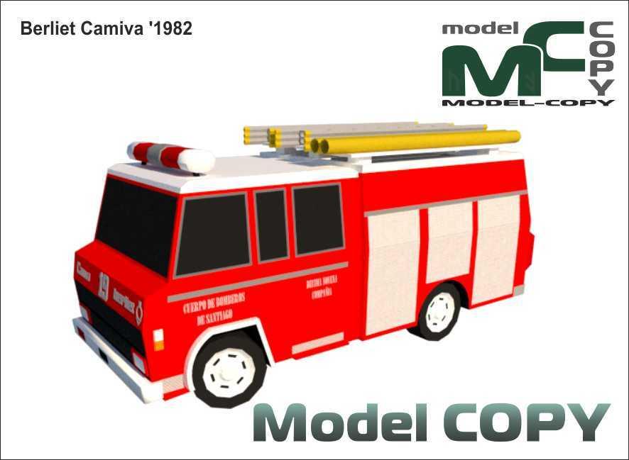 Berliet Camiva '1982 - 3D Model