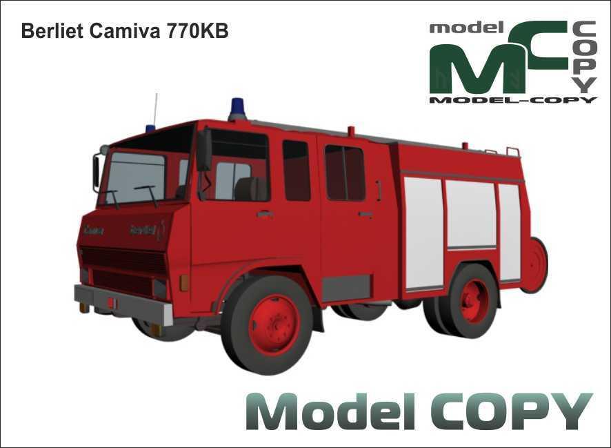 Berliet Camiva 770KB - 3D Model