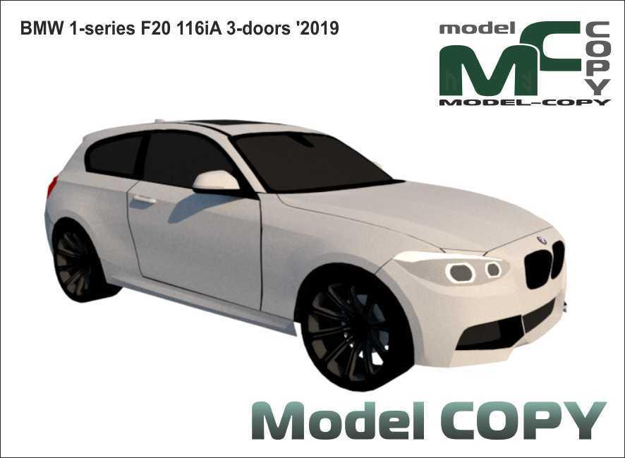 BMW 1-series F20 116iA 3-doors '2019 - 3D Model
