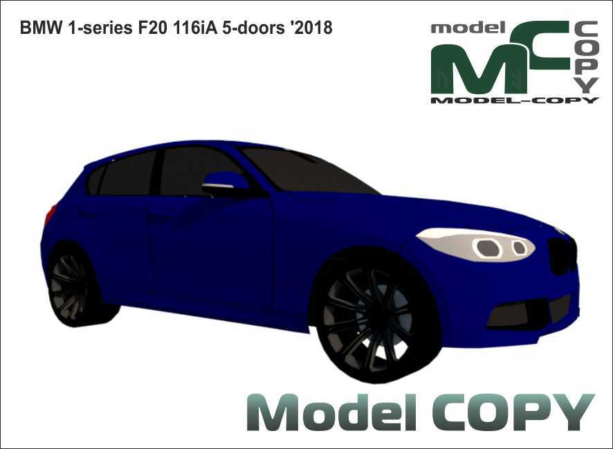 BMW 1-series F20 116iA 5-doors '2018 - 3D Model