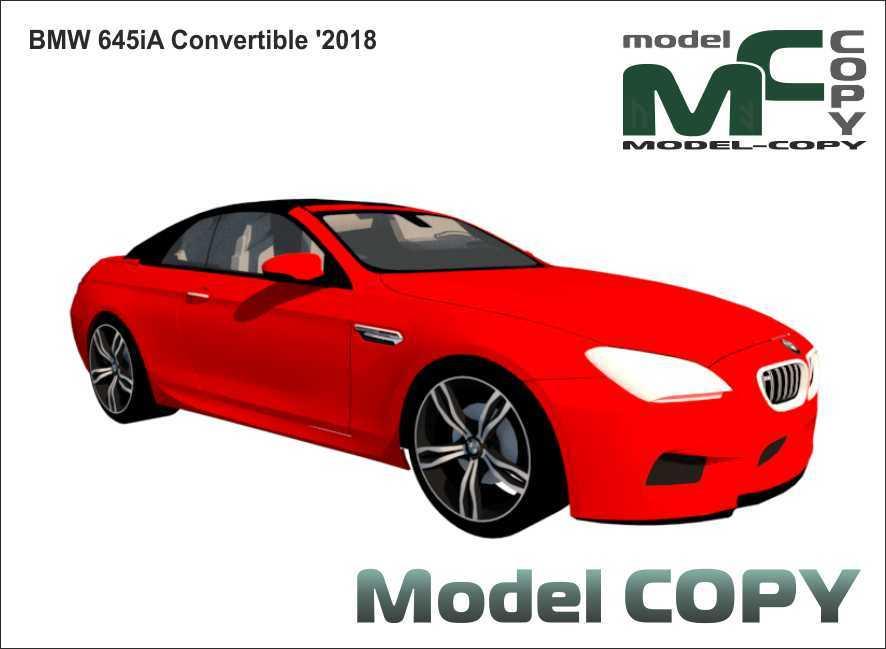 BMW 645iA Convertible '2018 - 3D Model