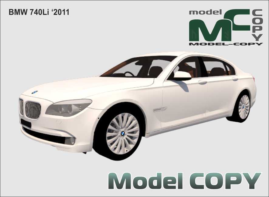 BMW 740Li '2011 - 3D Model