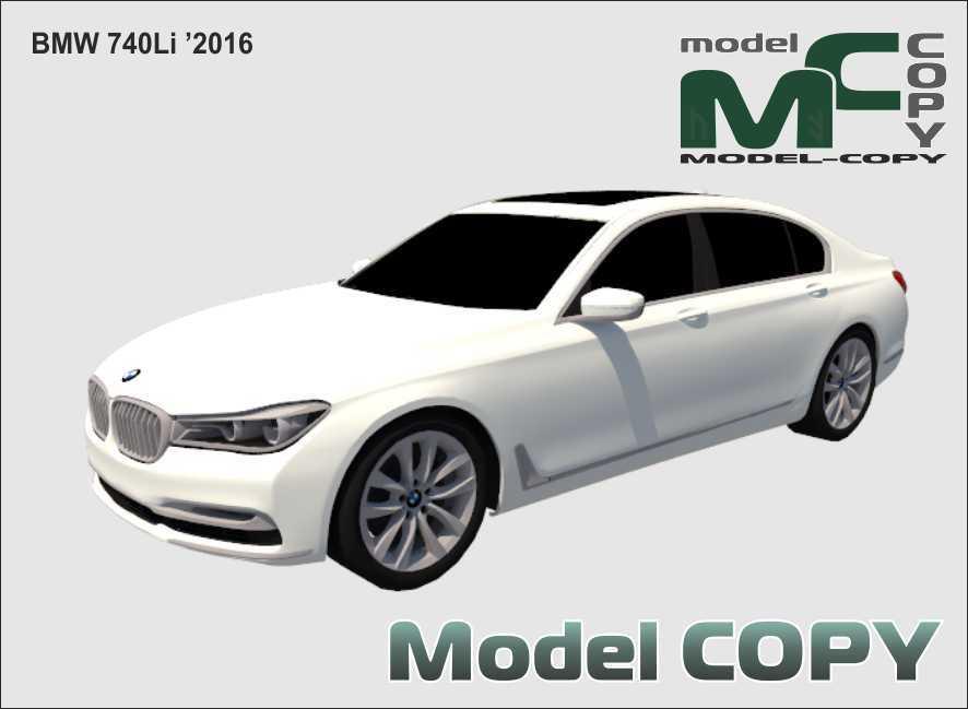 BMW 740Li '2016 - 3D Model
