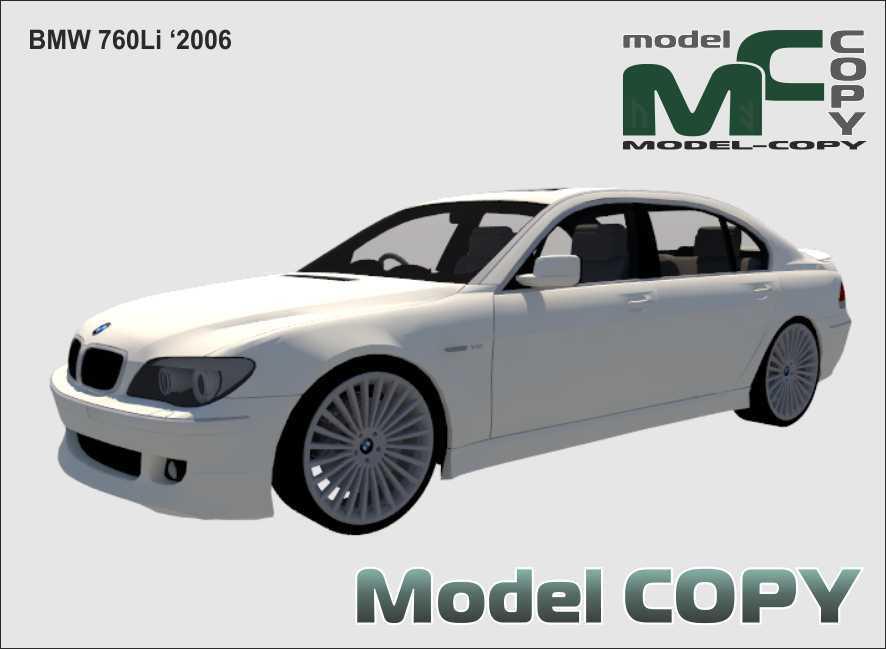 BMW 760Li '2006 - 3D Model