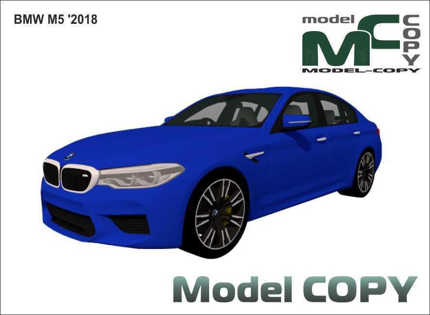 BMW M5 '2018 - 3D Model