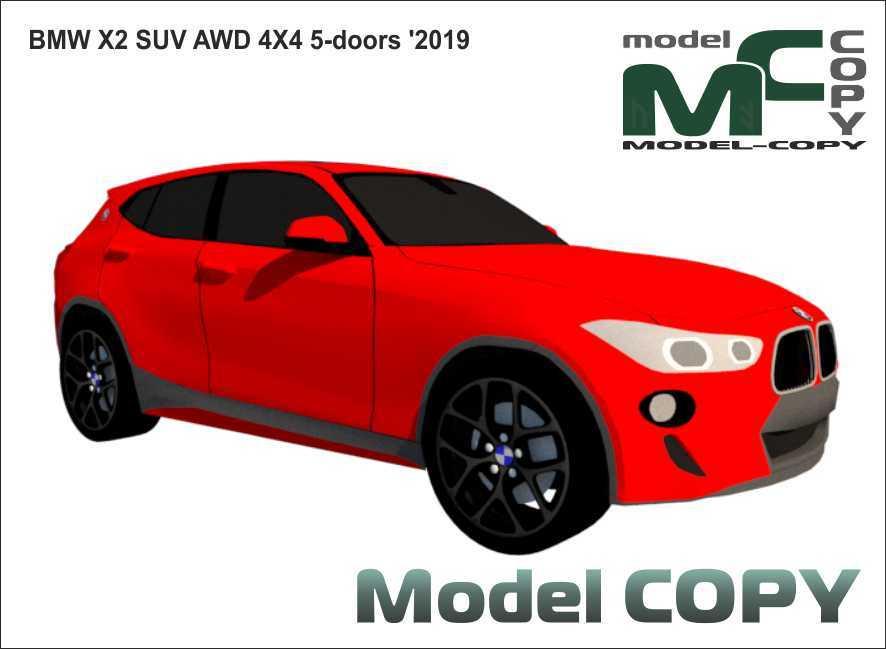 BMW X2 SUV AWD 4X4 5-doors '2019 - 3D Model