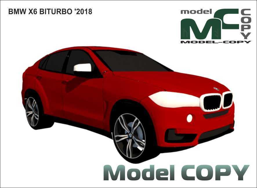 BMW X6 BITURBO '2018 - 3D Model