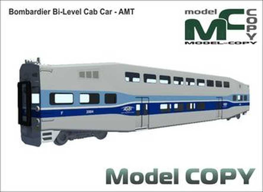 Bombardier Bi-Level Cab Car - AMT - Model 3D