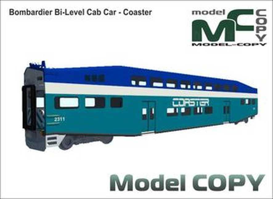 Bombardier Bi-Level Cab Car - Coaster - 3D Model