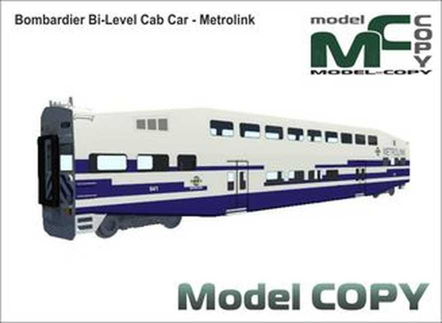 Bombardier Bi-Level Cab Car - Metrolink - 3D Model