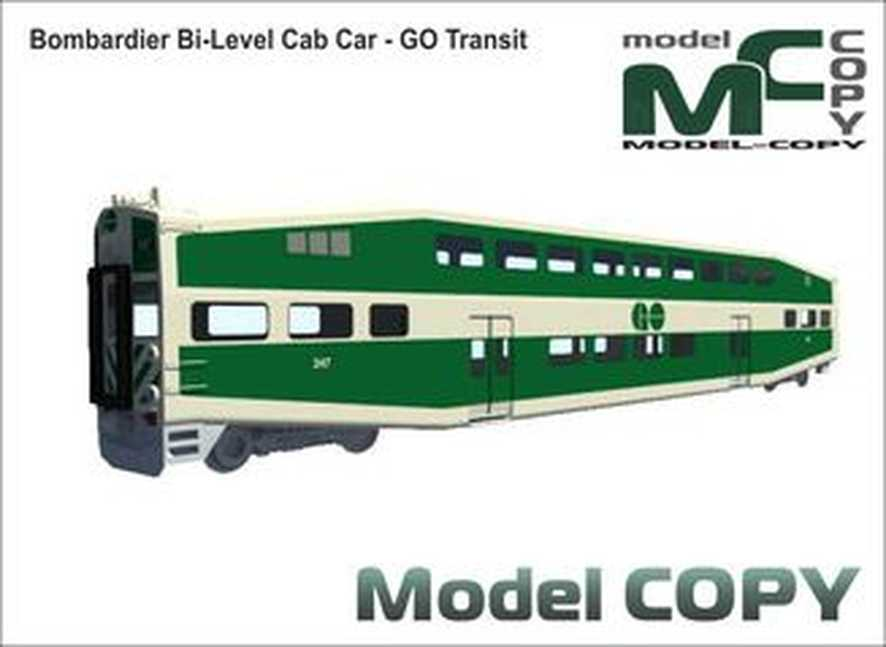 Bombardier Bi-Level Cab Car - GO Transit - 3D Model