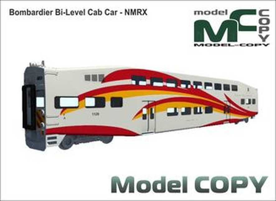 Bombardier Bi-Level Cab Car - NMRX - Model 3D