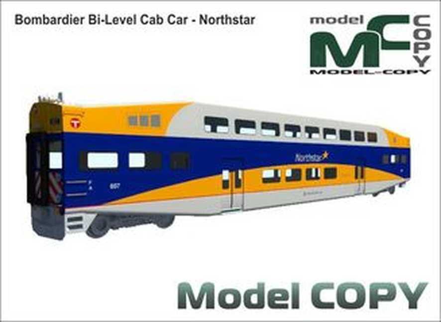 Bombardier Bi-Level Cab Car - Northstar - 3D Model