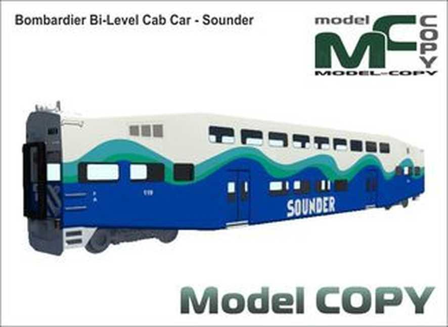 Bombardier Bi-Level Cab Car - Sounder - Model 3D