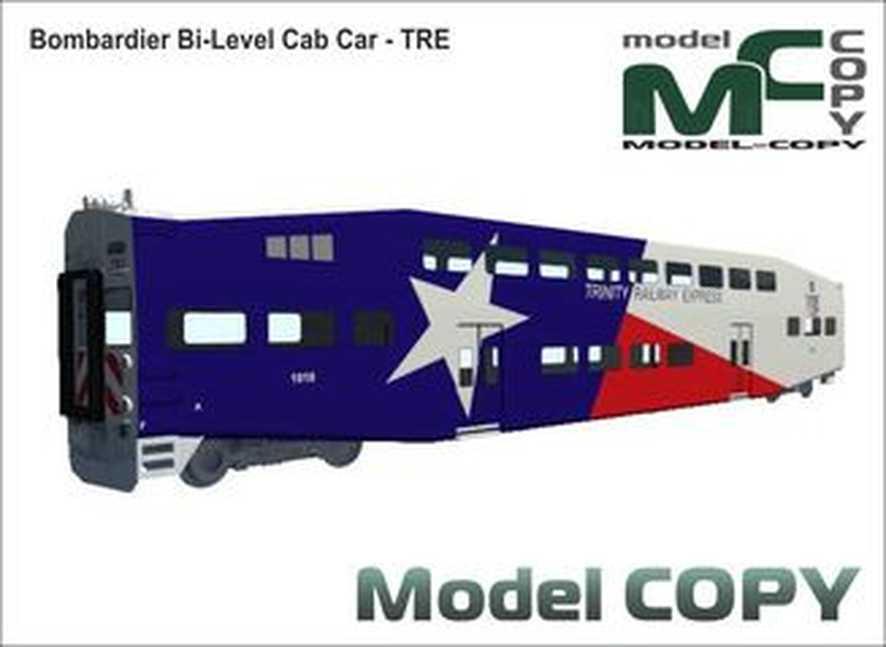Bombardier Bi-Level Cab Car - TRE - 3D-model