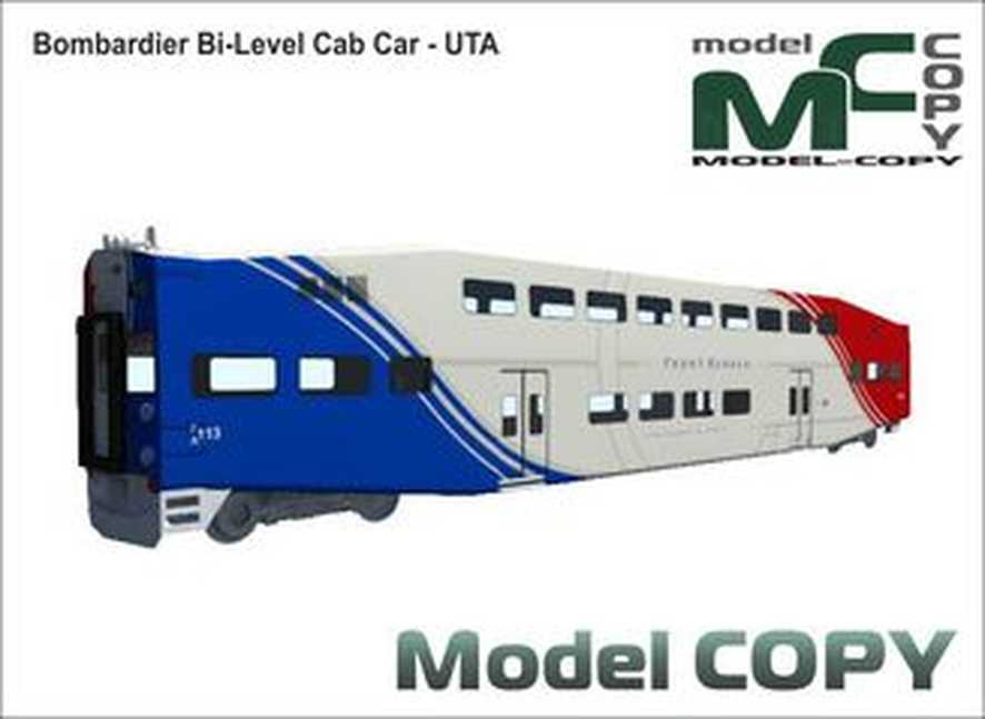 Bombardier Bi-Level Cab Car - UTA - 3D Model