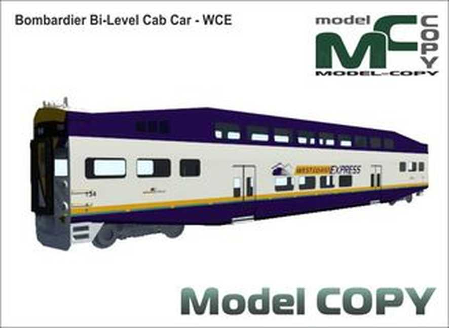 Bombardier Bi-Level Cab Car - WCE - 3D Model