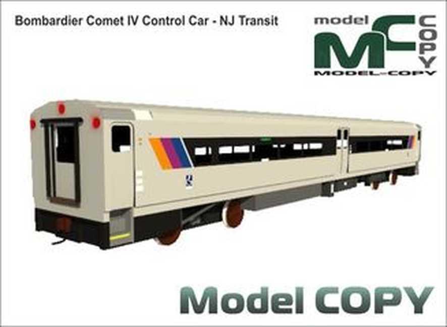 Bombardier Comet IV Control Car - NJ Transit - 3D Model
