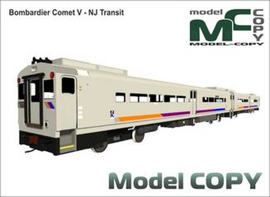 Bombardier Comet V - NJ Transit - Model 3D