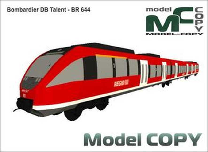 Bombardier DB Talent - BR 644 - 3D Model