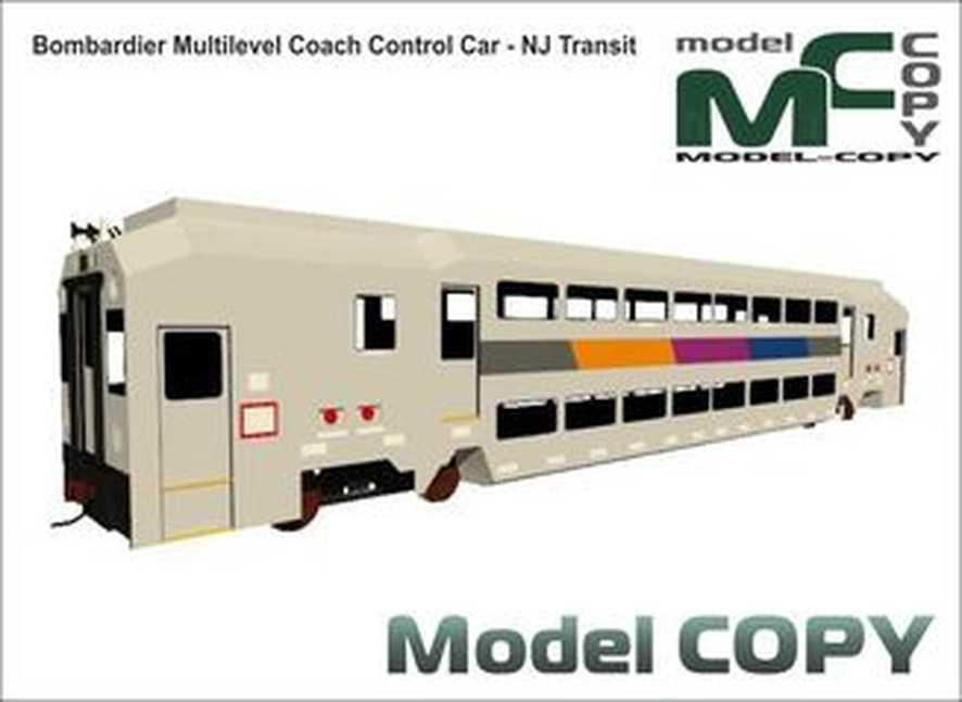 Bombardier Multilevel Coach Control Car - NJ Transit - 3D Model