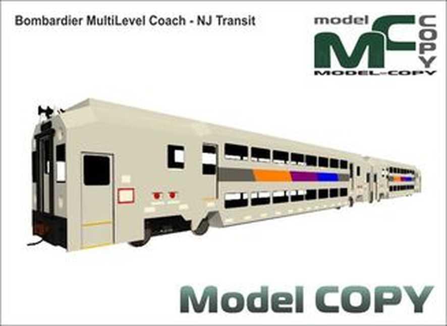 Bombardier MultiLevel Coach - NJ Transit - 3D Model