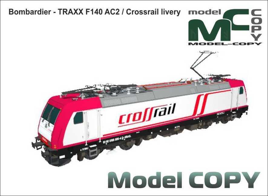 Bombardier - TRAXX F140 AC2 / Crossrail livery - Model 3D