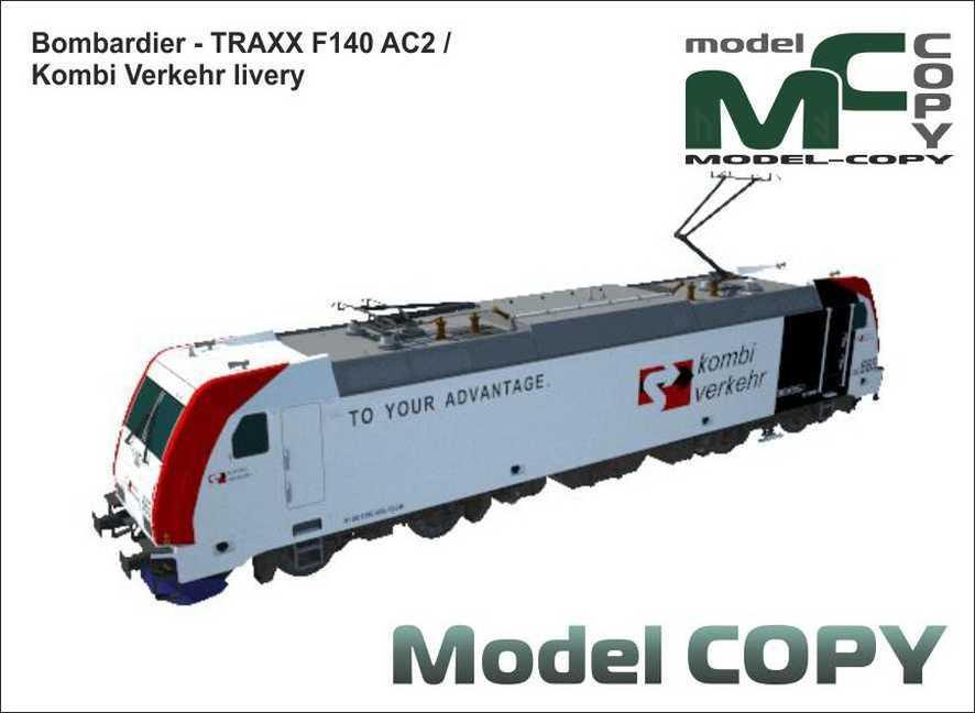 Bombardier - TRAXX F140 AC2 / Kombi Verkehr livery - 3D Model