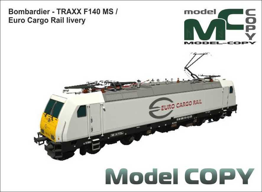 Bombardier - TRAXX F140 MS / Euro Cargo Rail livery - 3D Model