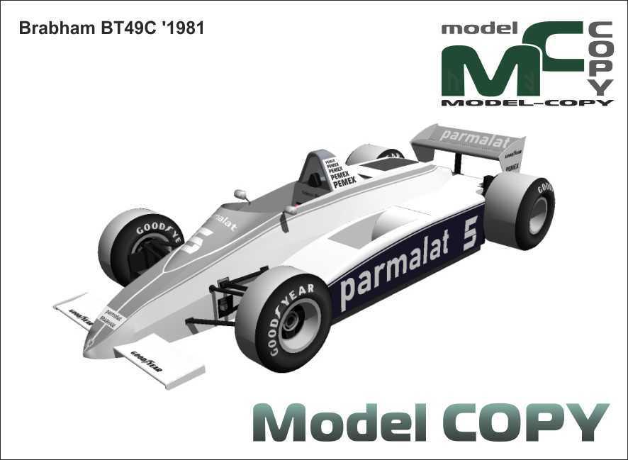 Brabham BT49C '1981 - 3D Model