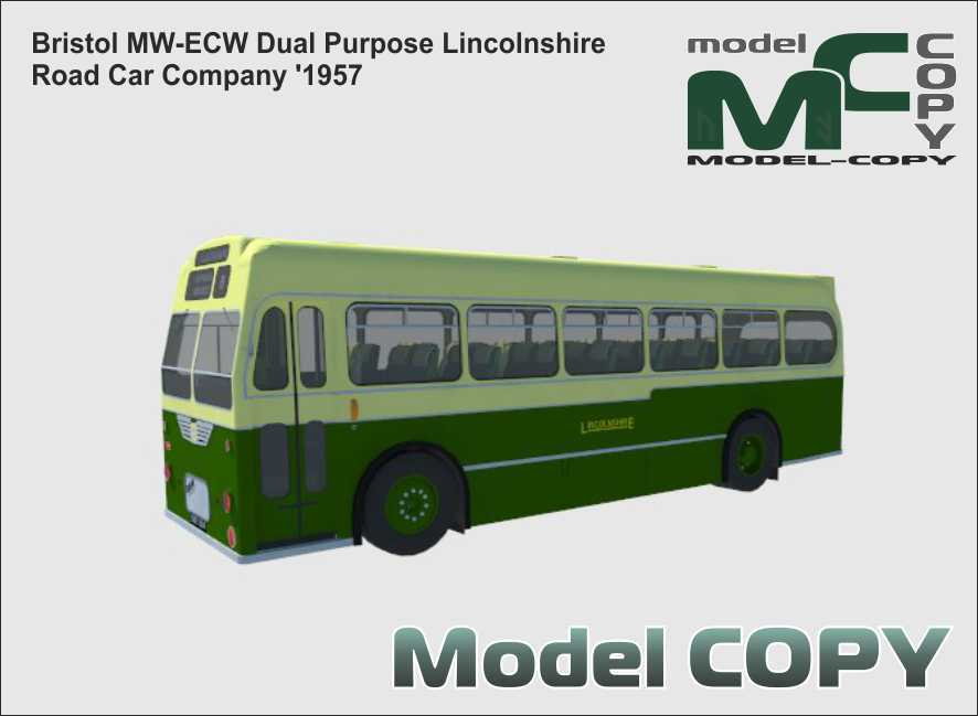 Bristol MW-ECW Dual Purpose Lincolnshire Road Car Company '1957 - 3D Model