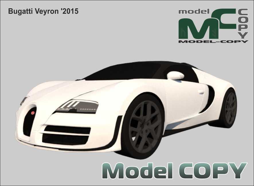 Bugatti Veyron '2015 - 3D Model
