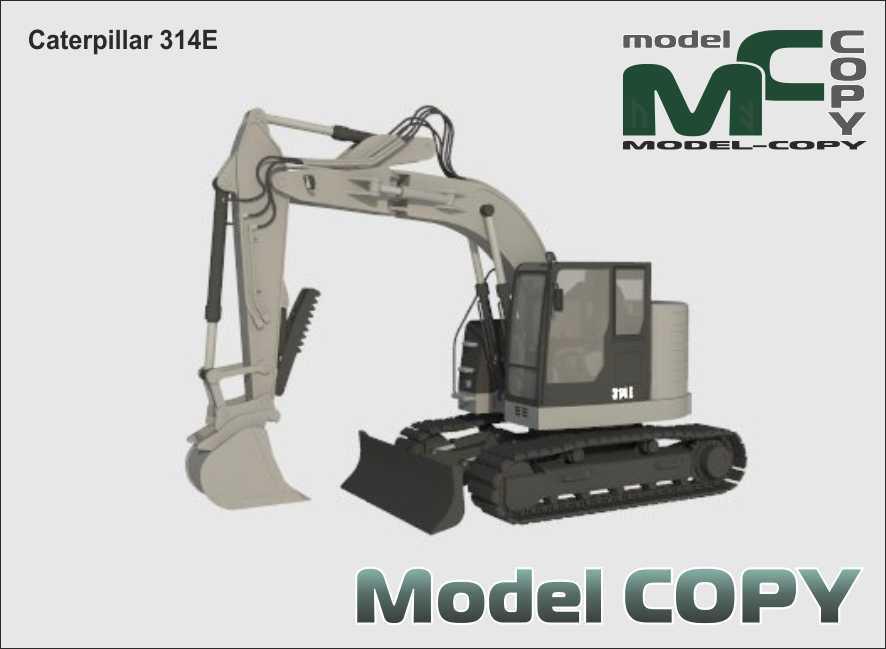 Caterpillar 314E - 3D Model