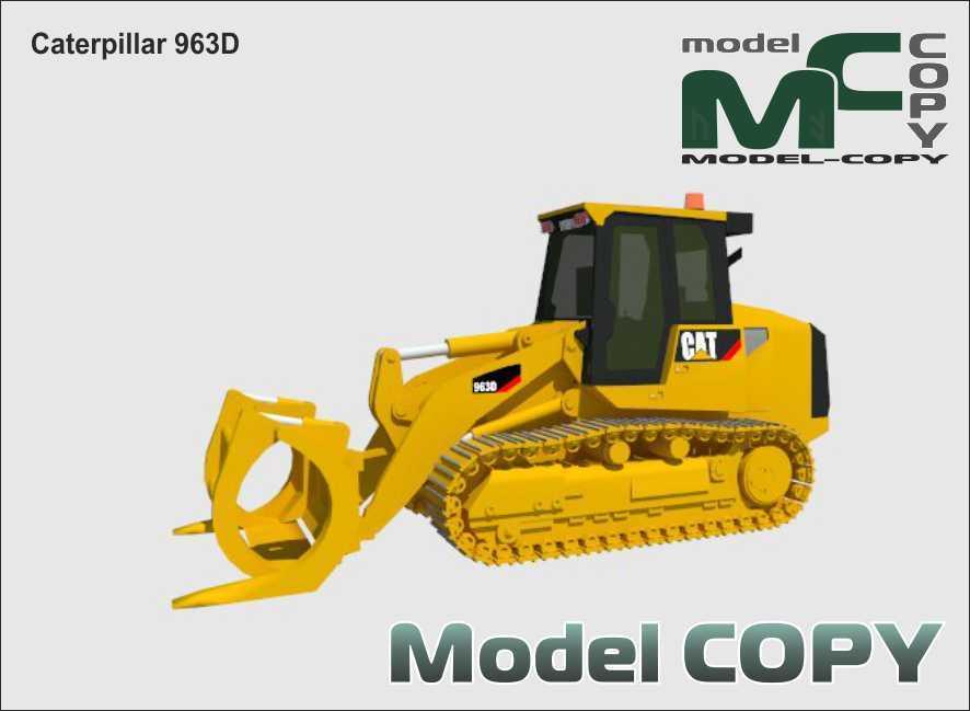 Caterpillar 963D - Modello 3D