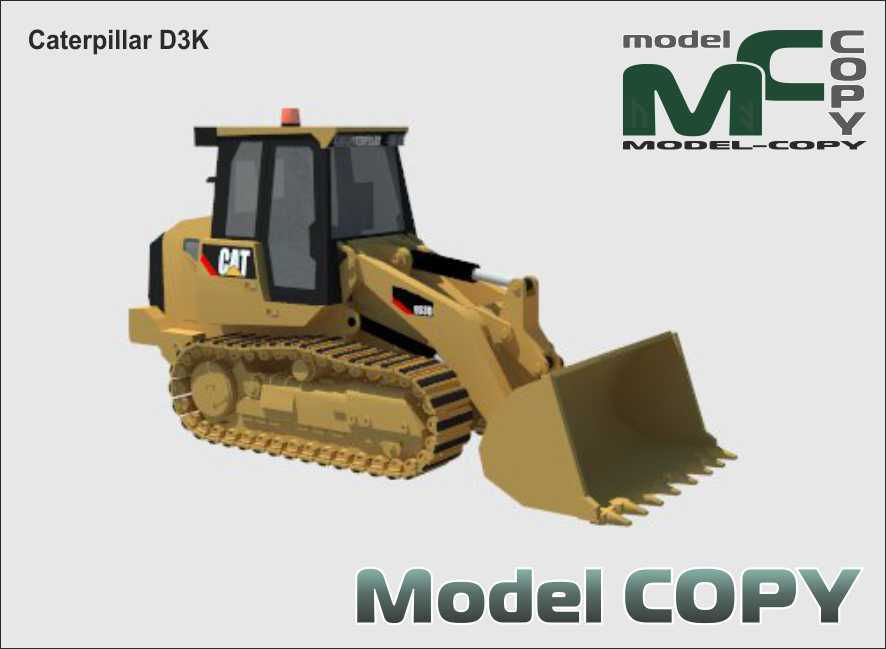Caterpillar D3K - 3D Model